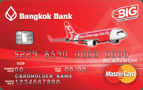 บัตรเครดิตแอร์เอเชีย แพลทินัม มาสเตอร์การ์ด ธนาคารกรุงเทพ